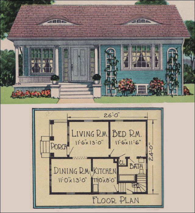 1926 yerkes plan by radford american builder magazine for American small house design