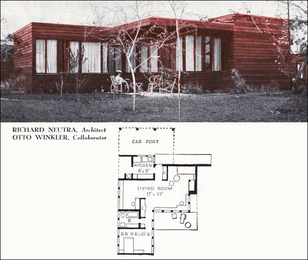 1940 neutra cottage one bedroom small house american for 1940 house plans